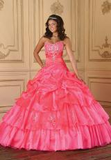 Tiffany Quinceanera 26629.  Available in Bright Fuchsia, Coral, Ivory, Mint Green, White